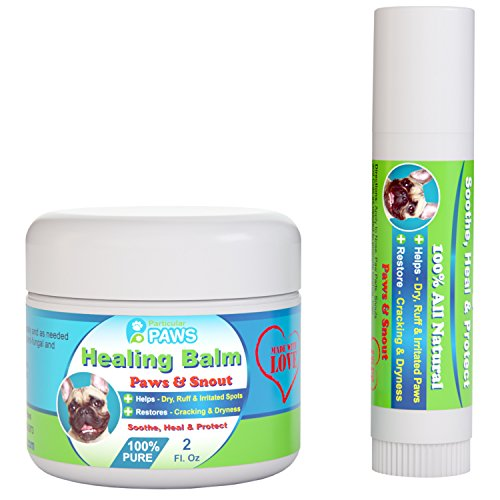Dog Healing Balm for Paws and Snout - 2 oz Jar +...