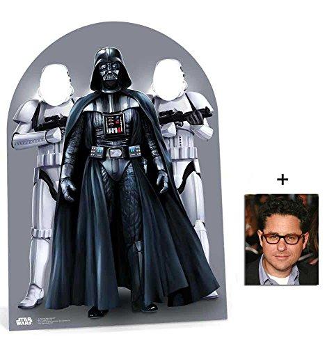 Star Wars Darth Vader und Stormtroopers Kindergröße Pappfiguren stehen hinter / Stehplatzinhaber / Aufsteller mit 25cm x 20cm foto
