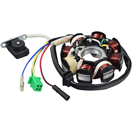 Amazon.com: AlveyTech 8 Coil Magneto Stator with 3 2 Wiring Connector for  125cc GY6 152QMI & 150cc GY6 157QMJ Scooters: Automotive | Gy6 8 Coil Stator Wiring Diagram |  | Amazon.com