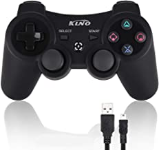 Game Controller for PS3 - Wireless Dual Vibration 3 KLNO Sixaxis Gamepad, Best Gifts for Kids, Son and Father in Family Playing with USB Charger Cable, for Sony Playstation 3 (Black)
