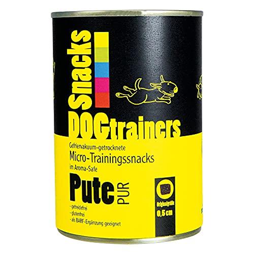 Friandises pour chien Dogtrainers Pute PUR - Lyophilisées-séchées - Petits snacks de viande pour le dressage de chien et comme récompense