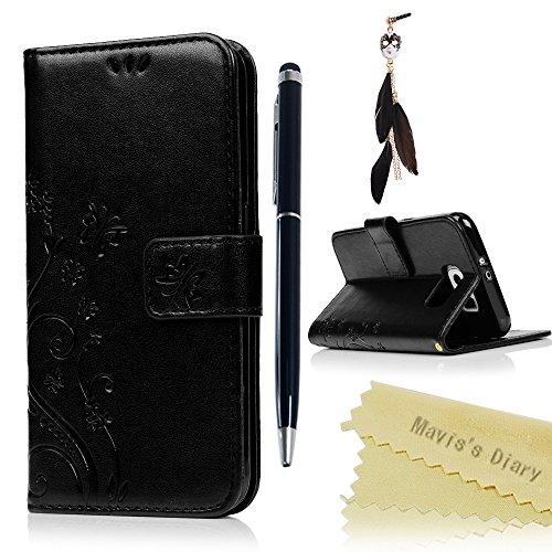 Funda para Samsung Galaxy S6 Libro de Cuero Impresión Con Tapa y Cartera,Correa de mano - Maviss Diary Carcasa PU Leather Con TPU Silicona Case Interna Suave,Soporte Plegable,Ranuras para Tarjetas y Billetera,Cierre Magnético - Funda Hecho para Samsung Galaxy S6