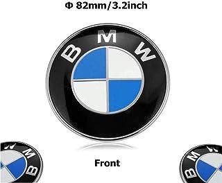 Haocc Loud 82mm BMW 2 pin Emblem Logo Replacement for Hood/Trunk for All Models BMW E30 E36 E46 E34 E39 E60 E65 E38 X3 X5 X6 3 4 5 6 7 8 (1pc)