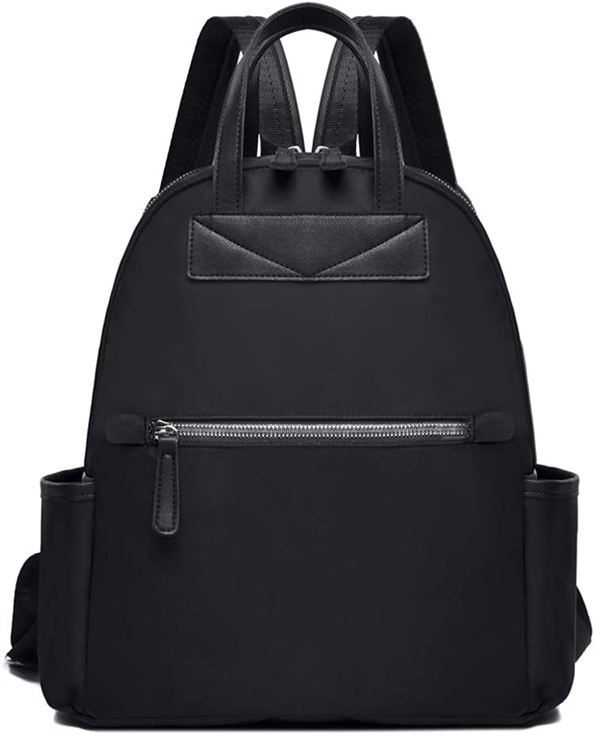 Backpack Nylon Oxford Backpack Portable Canvas Bag, Black Casual Practical Simple