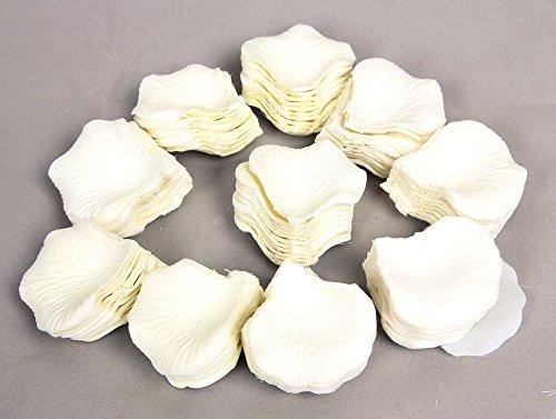 1000Uds. Pétalos Rosa Seda Blanco Decoración Bodas