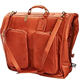 Claire Chase Classic Leather Garment Bag, Suitcase in Saddle