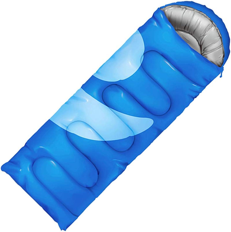 Schlafsäcke LCSHAN Polyester Outdoor Indoor Warm Warm Warm Camping Reise Erwachsene Vier Jahreszeiten Dicke Daunen Baumwolle (Kapazität   B, Farbe   Blau) B07L1G4XRV  Wunderbar f8822c