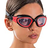 AqtivAqua DX Gafas Natacion Hombre Niño Mujer Niña (Rojo, Claro)