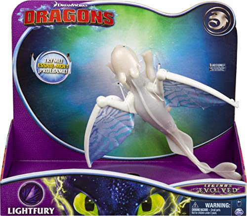Dragons Movie Line - Deluxe Dragons - Lightfury (Solid) mit Licht - und Soundeffekten, Actionfigur, Drachenzähmen leicht gemacht 3, Die geheime Welt