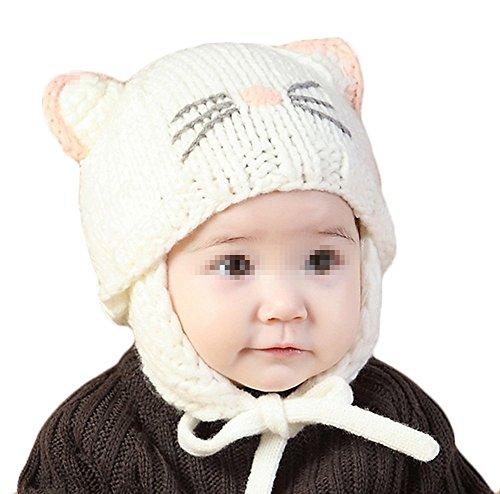 TININNA Mignon Mode Tricot Crochet Hiver Chaud Chapeau Bonnet Chat Cache Oreille Beanie Capuchon...