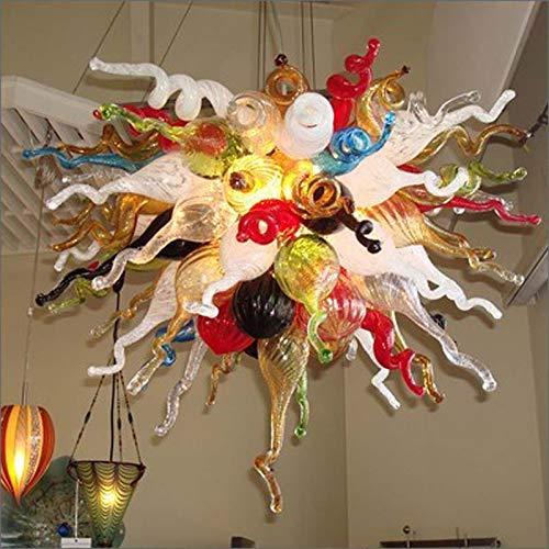 SHIJING nieuwste moderne multicolor Big Party kerstverlichting geblazen glas kroonluchter verlichting stadsplafond luchter