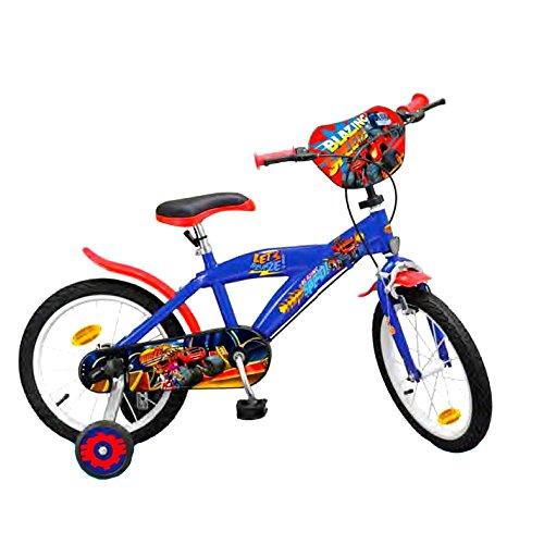 GUIZMAX Vélo Enfant 16 Pouces Blaze et Les Monster Machines Licence Officielle Disney