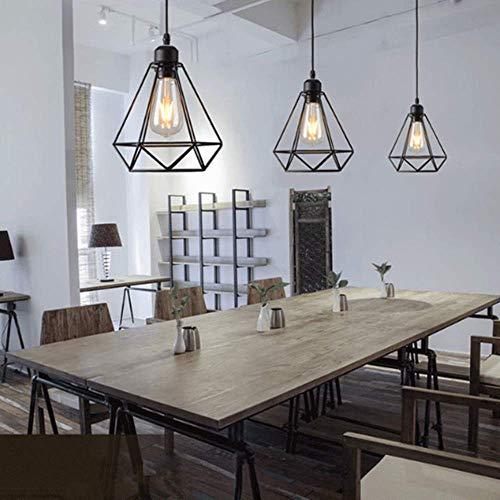 Lámpara colgante Retro Vintage iluminación de techo Iluminación E27 Capacidad...