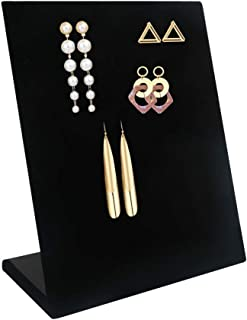CINEEN 60 Holes Earring Holder Ear Stud Holders Earring Displays Organizer, Velvet Jewelry Earring Holder Stand, Black,1 Piece.