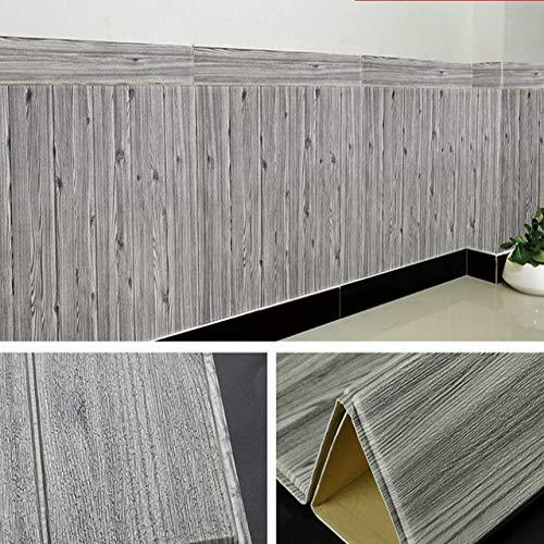 LZYMLG 3d Wallpaper Selbstklebende Woodr Grain Wandaufkleber Weiche Paket Kindergarten Wände Dekoration Wasserdichte Schaum Wandaufkleber EIN