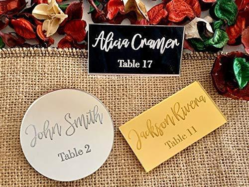 Place Cards Wedding Place Cards Laser Cut Custom Place Cards Wooden Place Cards Personalized Custom Color Custom Shape Wedding Table Decor