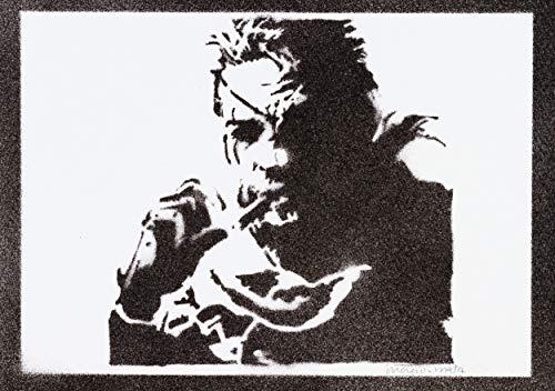 Poster Metal Gear Solid Snake Handmade Graffiti Street Art - Artwork