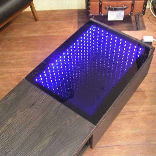 リビングテーブルデスティニーLEDテーブル幅110cmセンターテーブル