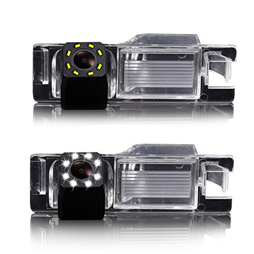 Dynavsal 8LED Visione Notturna 170°Grandangolare HD Impermeabile telecamera Retromarcia per Aifa Romeo 147/159/156 Benzina/156 TD.ID./156. M.Y./166 Bz-Ds/GT/Brera Coup/Nuovo Spider/Giulietta 940