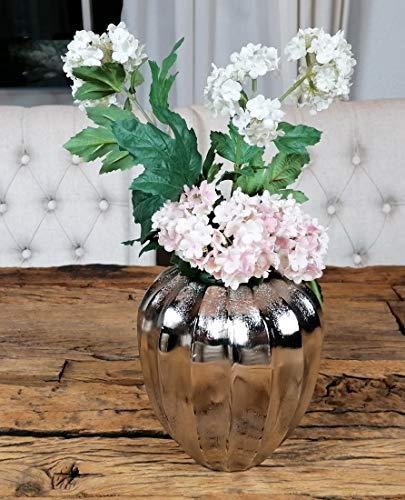 MichaelNoll Vase Blumenvase Gefäß Pokalvase Dekovase Aluminium Silber 17 cm