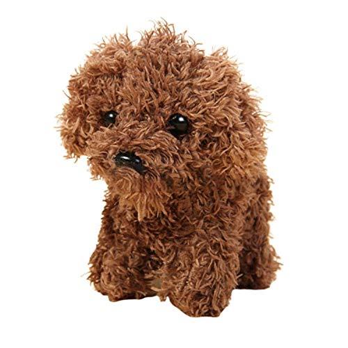 CVBN Juguetes de Peluche para Perros 10Cm Tall Boy Gift Juguetes de Peluche para Perros Llavero Colgante de Felpa para Perros, Color café