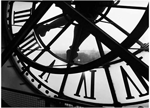 Crazystore Impresión en Lienzo 30x50 cm sin Marco Decoración de Dormitorio Reloj Retro Cuadro de Pintura de Moda Lienzo Arte de la Pared Habitación Impresiones en Lienzo Decoración de la Pared Cartel