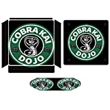 Cobra Kai Dojo Coffee Logo Compatible with PS4 Slim controller and console skin sticker protective cover wireless/wired gamepad controller