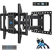 Mounting Dream TV Wall Mount for 42-70 Inches LED QLED TV, UL Certificated Full Motion TV Mount with Dual Articulating Arms Swivel and Tilt, Perfect Design for Max VESA 600x400mm and 100lbs MD2296