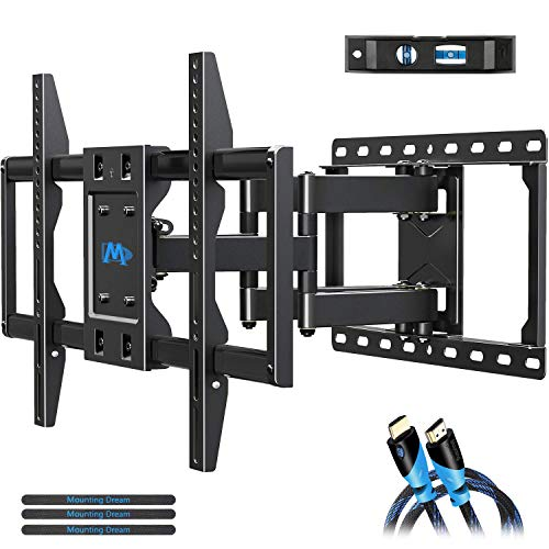 Mounting Dream TV Mount Bracket for 42-70 Inch Flat Screen TVs, Full Motion TV Wall Mounts with Swivel Articulating Dual Arms, Heavy Duty Design - Max VESA 600x400mm, 100 LBS Loading, MD2296. Buy it now for 59.99