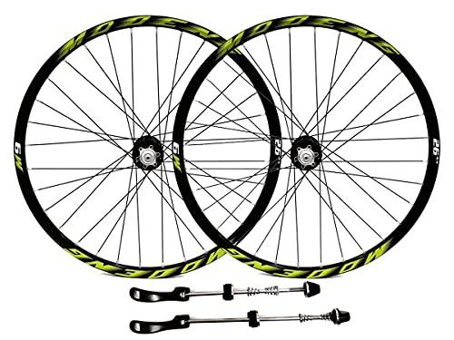 MZPWJD Ruedas Bicicleta Montaña Ruedas Juego 26' 27.5' 29' MTB Llanta Disco Freno Rueda Liberación Rápida 32H Buje para 7/8/9/10/11/12 Velocidad Cassette 2055g (Color : Green, Size : 26'')