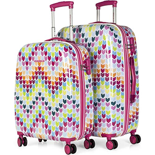 AGATHA RUIZ DE LA PRADA - 68400 SET 2 TROLLEYS POLICARBONATO, Color Fucsia
