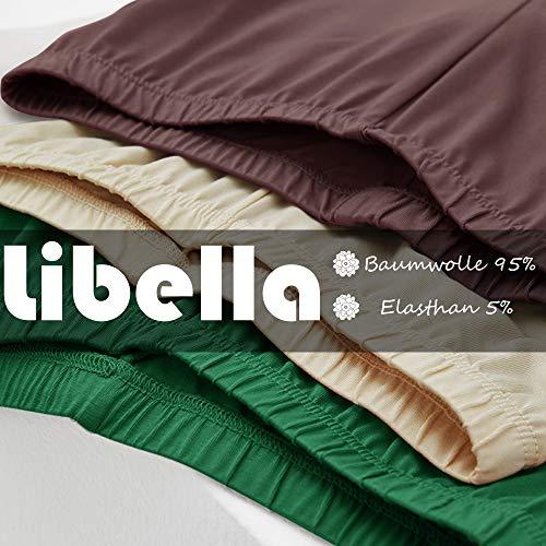 Libella Mujer Leggins Largos Deportivas Multicolor con Cintura de Altura Ajustado Hecho de algodón 4108 Verde XL