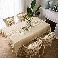 HULDORO レインコートテーブルクロスガーデンスタイルの似顔絵コットンリネンのテーブルクロステーブルクロスレトロなコーヒーテーブルのホーム長方形 ウェアラブル (Color : 3, Size : 135*200)