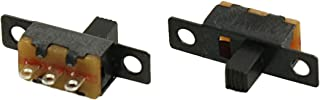 uxcell 5 Pcs 50V 0.5A 3 Pin 2 Position On/OFF 1P2T SPDT Slide Switch 3 Pin