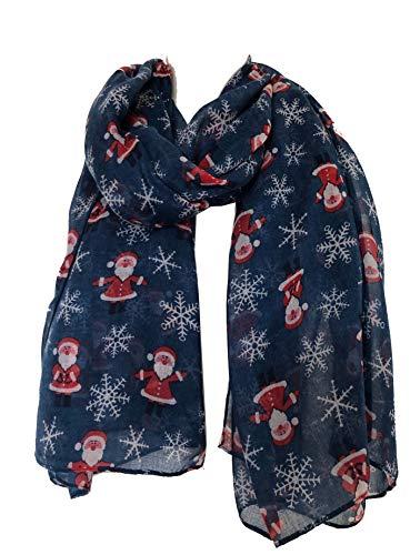 Pamper Yourself Now Blauer-Weihnachtsmann Damen Schall(Blue Father Christmas Ladies Scarf)