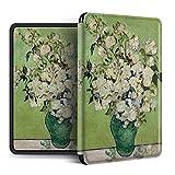 UBBVPKY Funda para Kindle - Funda para Kindle 2019, Van Gogh Funda para Pintura Al Óleo Compatible con El Nuevo Kindle Paperwhite 1/2/3/4 De Amazon/Kindle Oasis 2/3 (Función De Reposo/Activación Aut