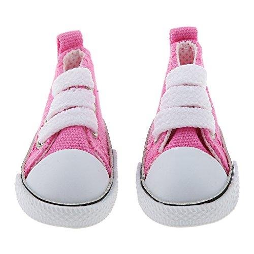 Trendy Lace Up Canvas Schuhe Für 1/6 LUTS Cuite DZ Als AE BG Blythe BJD Doll Accss - Fuchsie