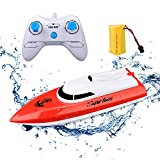 KINGBOT Rc Boat Rmote Control Boat for Pools & Lakes 2.4GHz 10KM/H High