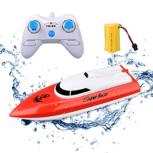 RC Boat KINGBOT Rmote Control Boat for Pools & Lakes 2.4Ghz 10km/H...