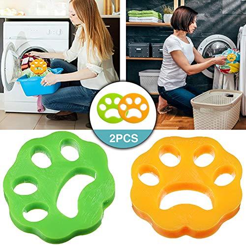 TOPOFU Quitapelos para Mascotas, Cepillo de Limpieza para el Cabello para Mascotas para Lavar la Ropa Reutilizables No Tóxicas Herramienta de Limpieza de Pelo de Animales para Lavadora (2PC)