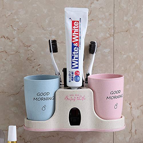 FairOnly - Extrusor de Pasta de Dientes automático para la Pared con Soporte para Cepillo de Dientes