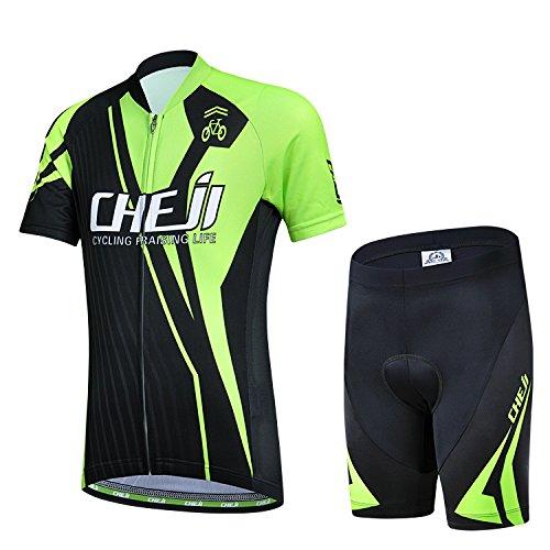cheji - Radsport-Anzüge für Jungen in Grün, Größe M