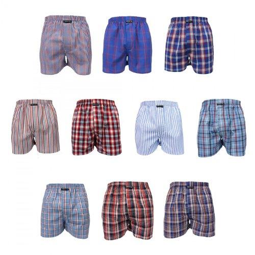 MG-1 10 Stück Webboxer Boxershorts Shorts Boxer Herren desortierter Farbmix, Grösse:M - 5-50, Farbe:Mehrfarbig, Menge:10 er Pack