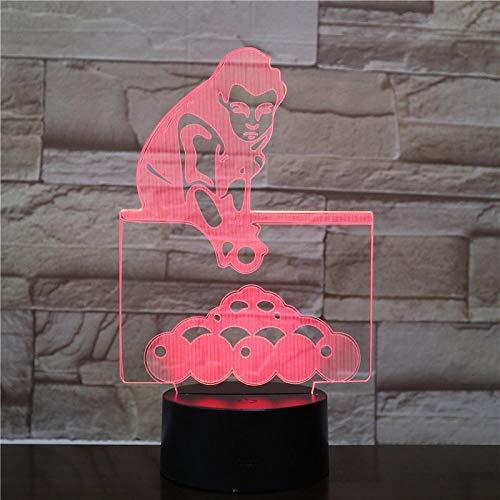 Nachtlampje mode Biljart-touch Klein Nachtlampje 7 Kleuren Touch Optische Foto Tafel Decoratie Lamp, Geschikt Voor Slaapkamer Bar Sfeerlamp