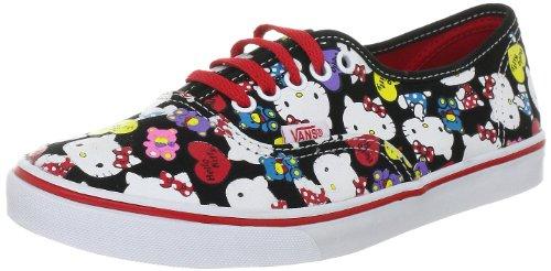 Vans Authentic Lo PRO - Scarpe da Ginnastica Unisex, per Adulti, Nero (Schwarz Hello Kitty Nero Rosso), 35 EU