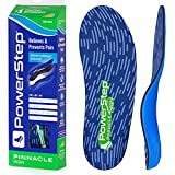 Powerstep Shoe Insole's Pinnacle High Orthotic Heel Cushion Inserts, Blue and Green, Men's 8-8.5 / Women's 10-10.5