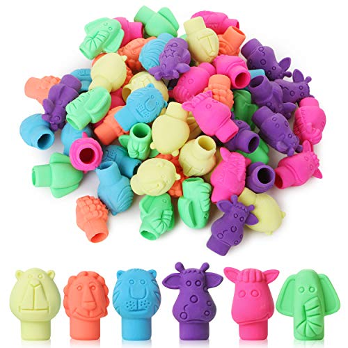 Mr. Pen- Erasers, Cap Erasers, 60 Pack, Animal Eraser Caps, Erasers for Kids, Pencil Eraser, Pencil Erasers Toppers, Eraser Pencil, Cute Erasers, Colorful Erasers, School Supplies, Pencil Top Erasers Photo #6