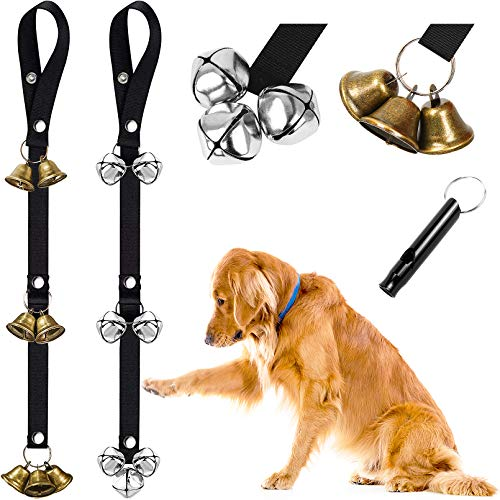 QUXIANG Dog Training Bells 2 Pack Dog Doorbells for Potty Training and Communication Upgraded 7 Extra Large Loud DoorBells Unique Style & Premium Quality for Puppies Dogs Doggy Doggie Pooch Pet Cat