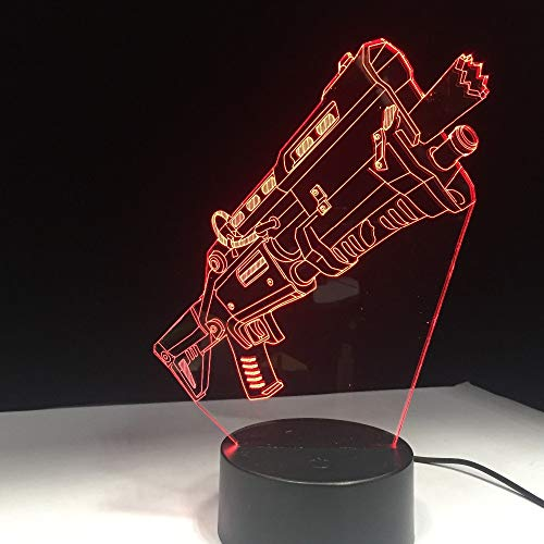 Mddjj Tactical Rifle Gun 3D Lamp Arylic Crystal Rgb Changeable Led Mood Lamp 7 Colors Base Night Light For Game Friend Gift Drop Ship Schlafzimmerdekoration
