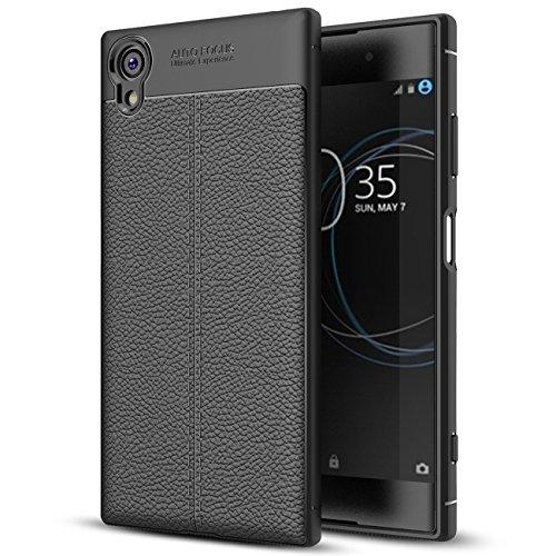 Capa para Sony Xperia XA1 Plus, capa de couro sintético para Sony Xperia XA1 Plus, capa macia de TPU antiderrapante para Sony Xperia XA1 Plus de 5,5 polegadas